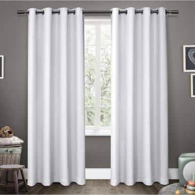 Winter White Thermal Grommet Blackout Curtain - 52 in. W x 84 in. L (Set of 2)