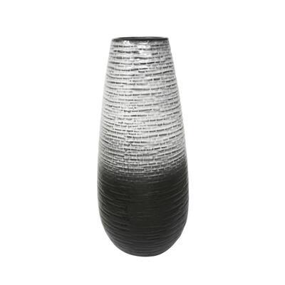 19.5 in. Gray Ceramic Vase