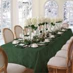 60 in. W x 144 in. L Hunter Elrene Barcelona Damask Fabric Tablecloth