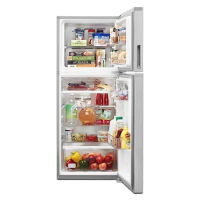 24 in. 11.6 cu. ft. Top Freezer Refrigerator in Fingerprint Resistant Stainless, Counter Depth