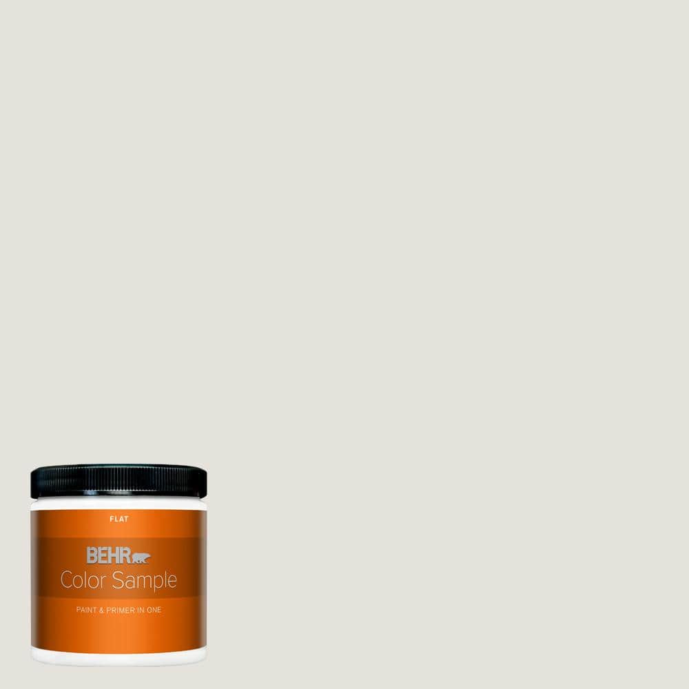 Behr Premium Plus 8 Oz Ppu18 08 Painters White Flat Interior Paint And Primer In One Sample B310016 The Home Depot