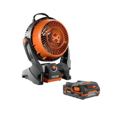 18-Volt Cordless Hybrid Fan with 1.5 Ah Lithium-Ion Battery