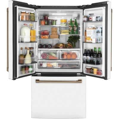 18.6 cu. ft. French Door Refrigerator in Matte White, Fingerprint Resistant, Counter Depth and ENERGY STAR