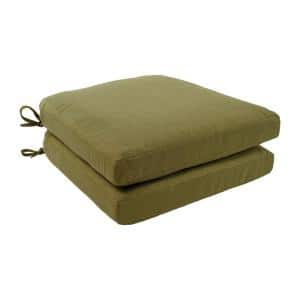 Charlottetown 18 x 18 Green Bean Outdoor Dining Chair Replacement Cushion (2-Pack)