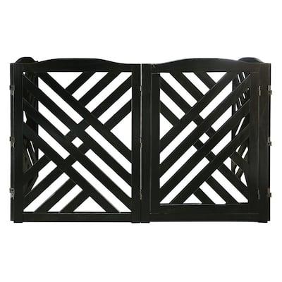 Lattice Pet Gate, Black
