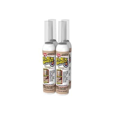 Flex Shot 8 fl. oz. Almond Thick Rubber Mildew Resistant Waterproof Sealant (4-Pack)