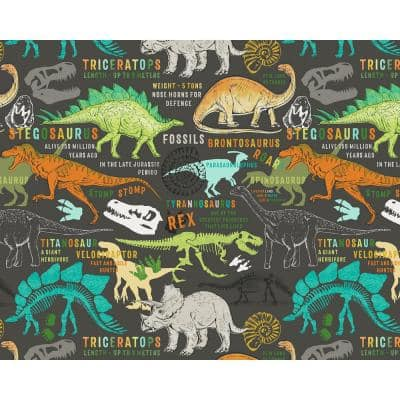 Brown Dinosaurs Wall Applique