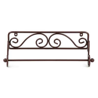 Scroll Collection Wall Mounted Bronze Paper Towel Holder