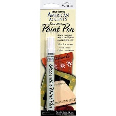 Satin White Decorative Paint Pen (6-Pack)