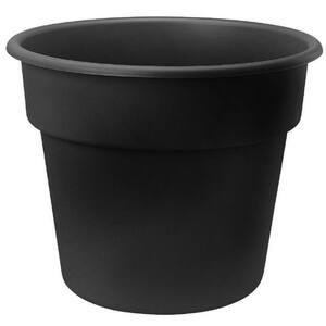 Dura Cotta 10 in. Black Plastic Planter