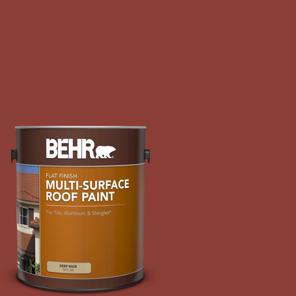 1 gal. #PFC-10 Deep Terra Cotta Flat Multi-Surface Exterior Roof Paint