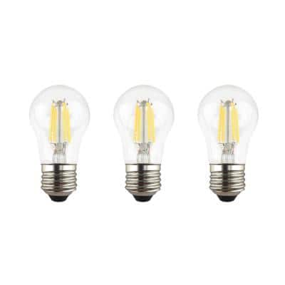 60-Watt Equivalent A15 Dimmable Clear Glass Decorative Filament LED Vintage Edison Light Bulb Soft White (3-Pack)