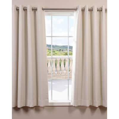 Oat Cream Grommet Blackout Curtain - 50 in. W x 63 in. L