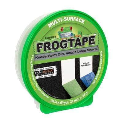 Multi-Surface 0.94 in. x 60 yds. Green Painter's Tape with Paint Block