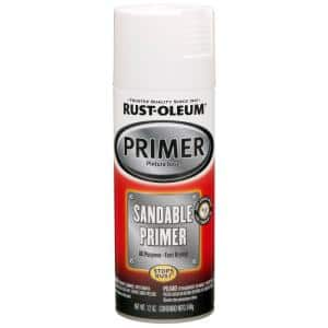 12 oz. White Sandable Primer Spray (6-Pack)