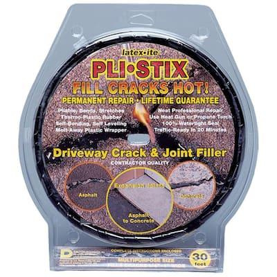 Pli-Stix 30 ft. Medium Black Permanent Blacktop Joint and Crack Filler
