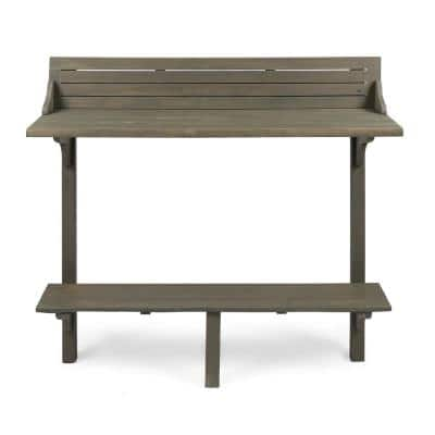 Adelaide Grey Wood Bar Height Outdoor Dining Table