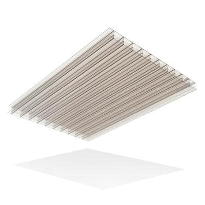 Thermoclear 48 in. x 96 in. x 1/4 in. Bronze Multiwall Polycarbonate Sheet