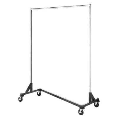 Chrome Metal Clothes Rack 60.75 in. W x 74.63 in. H