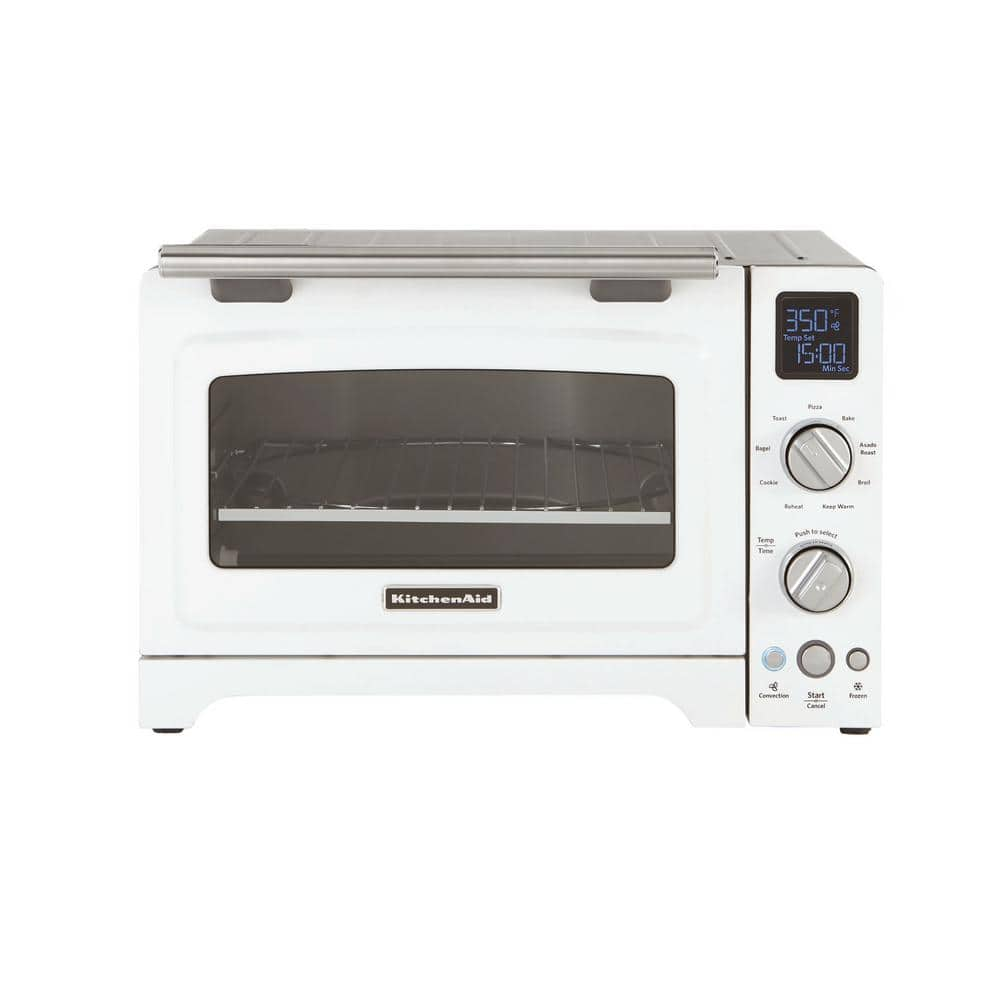 Kitchenaid 2000 W 4 Slice White Convection Toaster Oven With Non Stick Pan Broiling Rack And Cooling Kco275wh The Home Depot