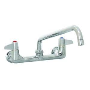 2-Handle Standard Kitchen Faucet with Commercial Features in Chrome