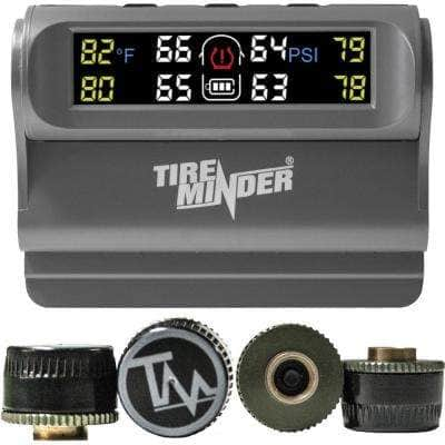 Solar-Powered Tire Monitor with 2 Transmitters