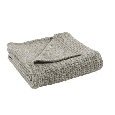 Taupe 100% Cotton Full/Queen Thermal Blanket