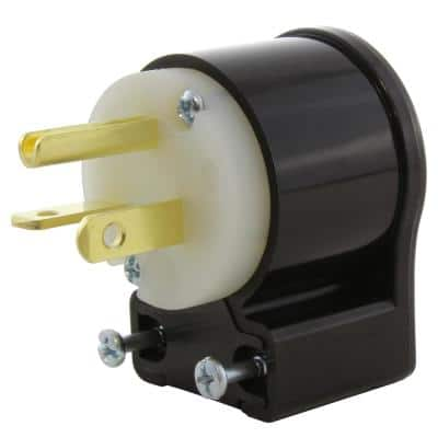 20 Amp 125-Volt NEMA 5-20P All Angles Elbow Industrial Heavy Duty Grade Male Plug