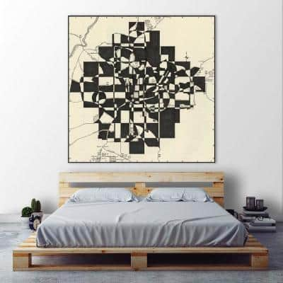 """54 in. x 54 in. """"Modern Map of Atlanta"""" by Nikki Galapon Canvas Wall Art"""