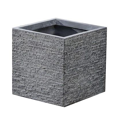Medium Stone Fiberclay Square Planter