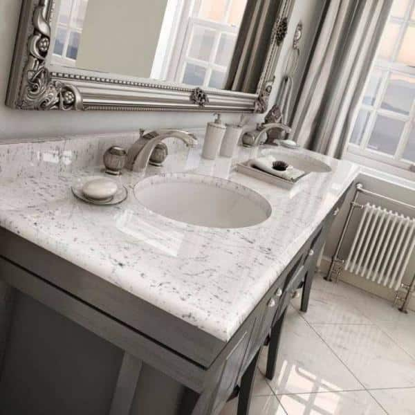 Kingsman Hardware 19 1 2 In X 16 In Oval Undermount Vitreous Glazed Ceramic Lavatory Vanity Bathroom Sink Pure White Uv1916p The Home Depot