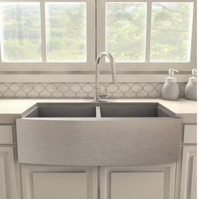 ZLINE Dante Kitchen Faucet in Brushed Nickel (DNT-KF-BN)