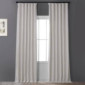 Birch Solid Rod Pocket Room Darkening Curtain - 50 in. W x 96 in. L