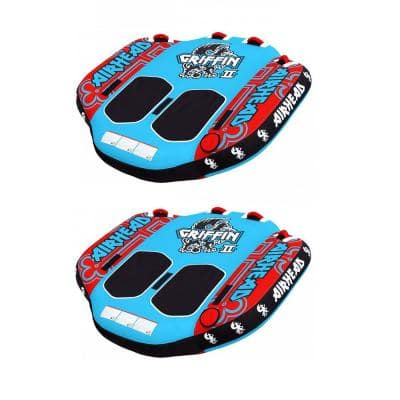 Airhead Griffin 2 Person Inflatable Winged Water Boating Towable Tube (2-Pack)