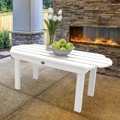 Classic Westport White Rectangular Recycled Plastic Outdoor Coffee Table