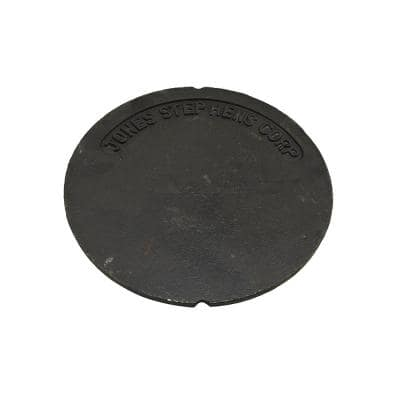 10-7/8 in. OD Cast Iron Plain Lid for 10 in. Sewer Box