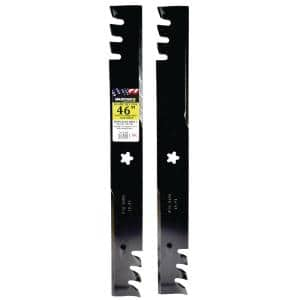 2 Blade Commercial Mulching Set for Many 46 in. Craftsman, Husqvarna, Poulan Mowers, Replaces OEM #'s 403107,532403107