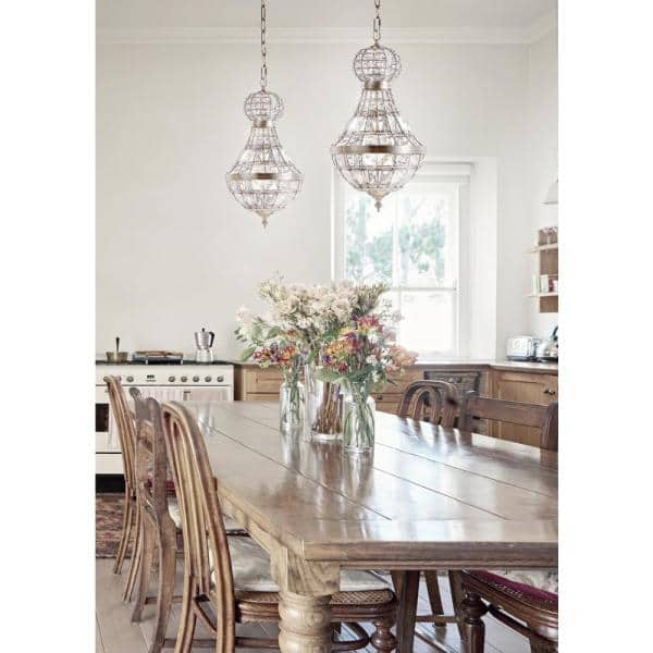 Jonathan Y Regina 12 In 1 Light Antique Brass Crystal Metal Empire Led Chandelier Jyl6109a The Home Depot