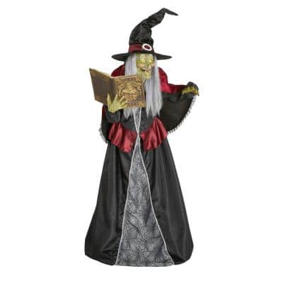 7 ft LED Spellcasting Witch