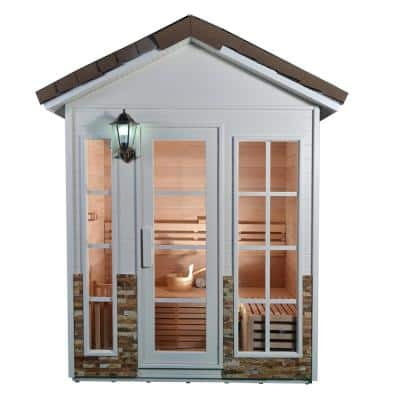 4-Person Electric Sauna with 4.5 kW ETL Electric Heater and Stone