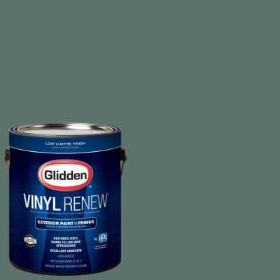 1 gal. #HDGB13U Dark Stormy Sky Green Low-Lustre Exterior Paint with Primer