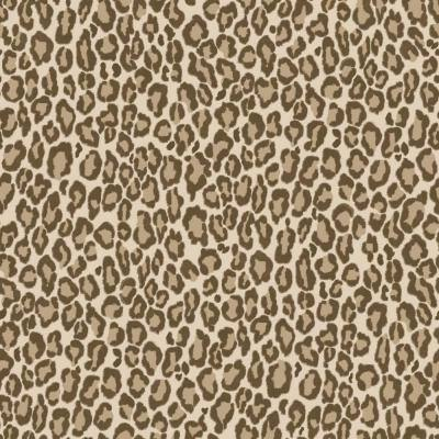 Cicely Brown Leopard Skin Wallpaper Sample