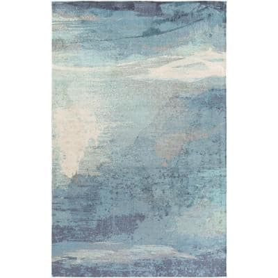 Alikka Sky Blue 8 ft. x 10 ft. Indoor Area Rug
