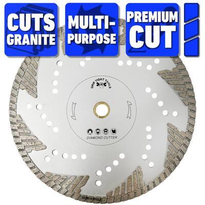 10 in. Premium Deep Turbo Cut General Purpose Diamond Blade, Cuts Granite, Marble, Concrete, Stone, Brick and Masonry