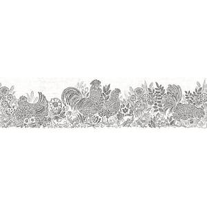 Parton Black Chicken Black Wallpaper Border