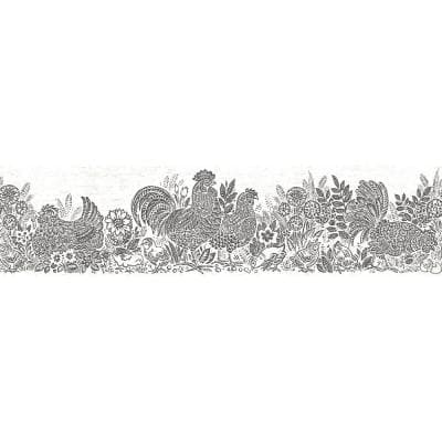 Chesapeake Parton Black Chicken Black Wallpaper Border 3119 13552b The Home Depot