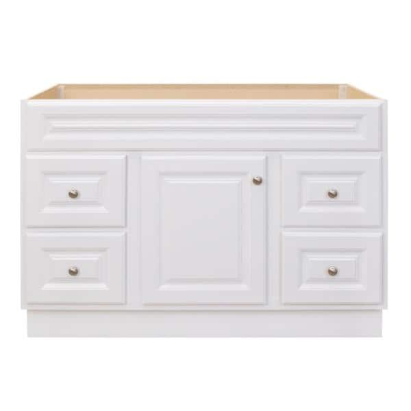 Glacier Bay Hampton 48 In W X 21 In D X 33 5 In H Bathroom Vanity Cabinet Only In White Hwh48dy The Home Depot