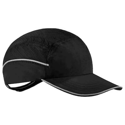 8955 Long Brim Black Lightweight Bump Cap Hat