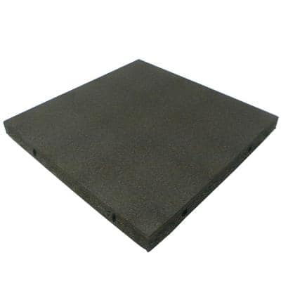 Eco-Safety 2.5 in. T x 1.62 ft. W x 1.62 ft. L Coal Rubber Interlocking Playground Flooring Tiles(55.4 sq. ft.)(20-Pack)