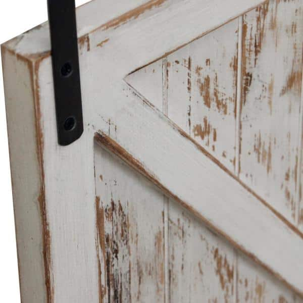 FirsTime & Co. - 34 in. x 14 in. Carriage House Barn Door Wooden Wall Plaque Set